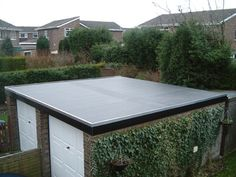 flat roof with small pitch