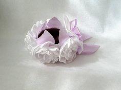 White Rose Bun Wrap Hair Bun Wrap Pink Flower Bun Wrap