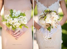 green and white bouquet (image on left)