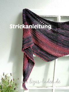 **Strick-Anleitung für Lizas Tuch Lavastrom** Dieses Tuch habe ich aus zwei verschiedenen Garnen gestrickt. Das dunkle Garn ist eine edle Mischung aus Merino, Seide und Leinen der Firma Atelier...