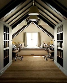 Attic home office design