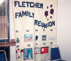 Each year a new element is added. The Reunion, Banner, Sign, Shower, Prints, Ideas, Banner Stands, Rain Shower Heads, Signs