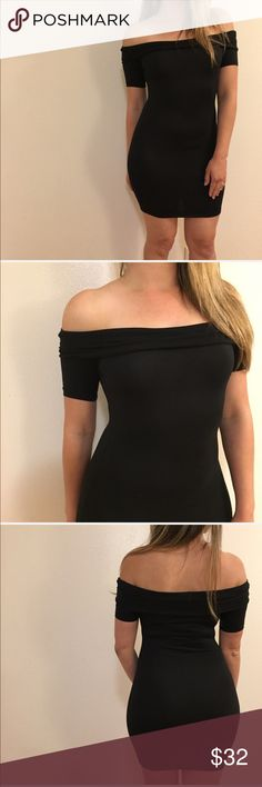 Black Off The Shoulder Dress Black Off The Shoulder Dress. Short sleeved mini. Brand new. Never worn. No flaws. Available in S-M-L. 87% polyester, 13% spandex. These do fit slightly small. If you are curvy or between sizes, size up. Model is wearing a medium. 15% discount on all 3+ item bundles made with the bundle feature. No Paypal. No trades. No offers will be considered unless you use the make me an offer feature.    👉 Please follow 📱 Instagram: BossyJoc3y Dresses
