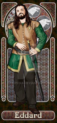 Eddard Stark by tfilipova on DeviantArt