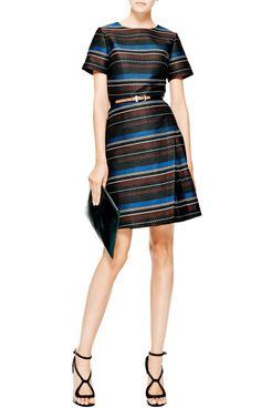 Side-Pleat Woven Mini Dress by Suno - Moda Operandi
