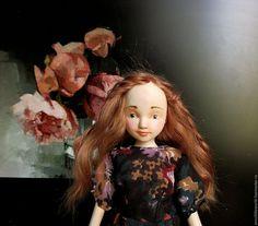 Купить Нюра - бледно-розовый, кукла ручной работы, авторская кукла, кукла в подарок