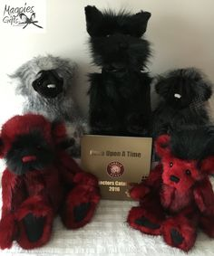 "From the New 2016 Collection ""Once Upon A Time"" by Charlie Bears, introducing, Hinckley, Scottie, Stuie, Clancy & Chuck from this weeks Delivery. http://magpies-gifts.co.uk/charlie-bears-magpies/in-stock-now.html #magpiesgifts #charliebears #hinckley #chuck #scottie #clancy #stuie #2016collection #onceaponatime"
