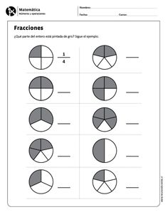 Visit the post for more. Fractions Worksheets, Kids Math Worksheets, Math Multiplication, Fraction Activities, Math Activities, Math For Kids, Fun Math, Math Exercises, Math Sheets