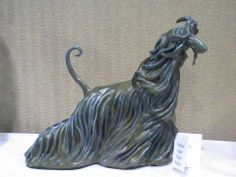 Clay Sculpture: Afghan Hound by Connie Nibarger of KonRobbi Art.