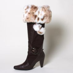 One of our favorites, Fawn Faux Fur Boot Toppers with Matching Pompoms (detachable pompoms sold separately). www.mytopoftheboot.com