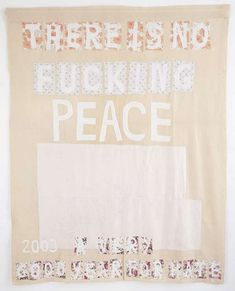 Tracey Emin REMEMBERING 2003, 2004 appliqué blanket with embroidery 238.5 × 185.5cm