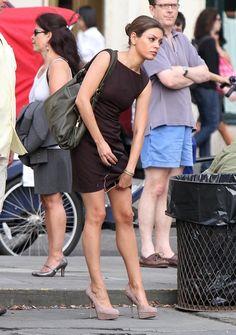 Mila Kunis - Mila Kunis Films 'Friends With Benefits' In New York