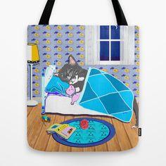 Sleepy Time Cat Tote Bag