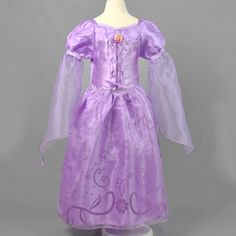 baby girl dress long sleeve lace princess dress for girl clothes 2016 fashion cartoon purple kids party dresses children costume