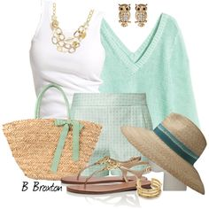 Casual by bbroxton on Polyvore featuring moda, H&M, Soaked in Luxury, Naf Naf, Filù Hats, Tory Burch, Nice Things by Paloma S, Leslie Danzis and Amrita Singh