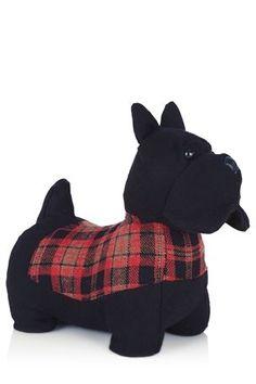 Buy Fabric Scottie Dog Door Stop from the Next UK online shop Dog Door Stop, Flat Ideas, Buy Fabric, Scottie Dog, Cosy, Dinosaur Stuffed Animal, Uk Online, Animals, Shop