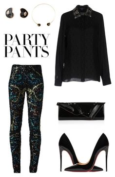 """""""#PolyPresents: Fancy Pants"""" by joanna-tabakou on Polyvore featuring Zadig & Voltaire, Gucci, Christian Louboutin, Dezso by Sara Beltrán, contestentry and polyPresents"""