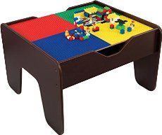 Turn an old side table into this cool Lego Play Table for hours of fun with your little ones! Try this great upcycle today.