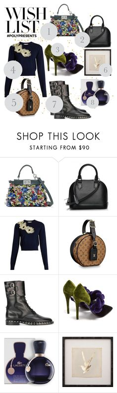 """""""#PolyPresents: Wish List"""" by marrrriyam ❤ liked on Polyvore featuring Fendi, Louis Vuitton, Roksanda, Valentino, Marco de Vincenzo, Lacoste, Mirror Image Home, contestentry and polyPresents"""