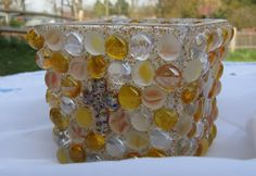 Custommade Glass Candle Holder w/ Crosses  by BellesUniqueBoutique, $14.99