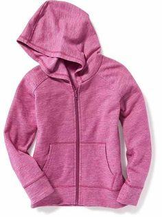 Slub-Knit Fleece Hoodie for Girls