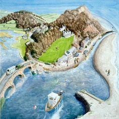 View the painting: Axmouth Harbour, Devon by Francis Farmar John Galliano, Agatha Raisin Books, Clarks, Steve Madden, Devon, Farmer, Golf Courses, Coast, British
