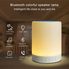 Bluetooth Speaker Intelligent Led Touch Control