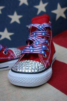 Cute converse for 4th of july.