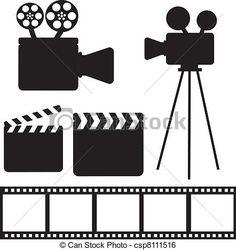 Vector - elementos, cine - stock de ilustracion, ilustracion libre de, stock de iconos de clip art, logo, arte lineal, retrato de EPS, Retratos, gráficos, dibujos gráficos, dibujos, imágenes vectoriales, trabajo artístico, Arte Vectorial en EPS