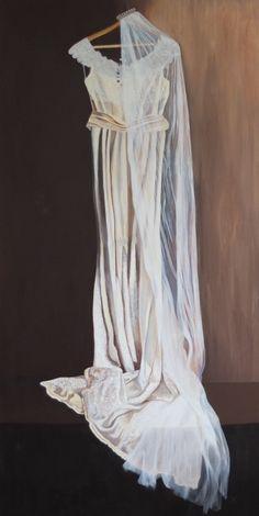 Original Fashion Painting by Bobbie Seagroatt Wedding Veil, Tulle Wedding, Wedding Dresses, Silk Satin, Satin Tulle, Lace Painting, Fashion Painting, Draped Fabric, Art Oil