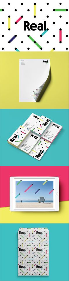 Brand identity for a consumer research, cultural insight and innovative visual intelligence agency. The bright pattern is built on the idea of connecting dots and finding unexpected relations and inspiring results. This versatile and playful concept creates a consistent visual foundation for the brand through all the channels, from stationery to corporate deck and social media. Designed by LET'S PANDA studio, Vancouver, Canada. #letspanda #branding #pattern