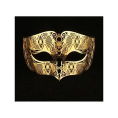Gold Male Masquerade Masks Laser Cut Metal Mask for Men ($12) ❤ liked on Polyvore featuring men's fashion