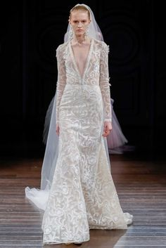 """Dominica"" by Naeem Khan   Article: Innovative %26 Imaginative Gowns from Naeem Khan Bridal Spring 2017   Photography: Dan Lecca   Read More:  http://www.insideweddings.com/news/fashion/innovative-imaginative-gowns-from-naeem-khan-bridal-spring-2017/2961/"