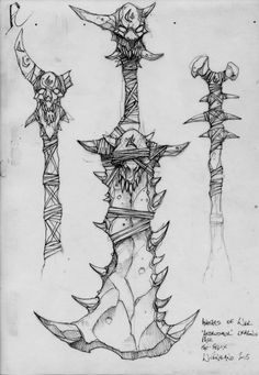 Anime Weapons, Fantasy Weapons, Armor Concept, Weapon Concept Art, Art Sketches, Art Drawings, Sword Design, Cg Art, Larp