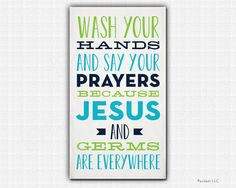 Wash Your Hands and Say Your Prayers | Guest Towel | endashdesigns.com