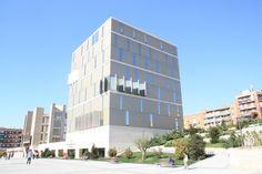 Usera Public Library, Madrid.    Designed by  Abalos Sentkiewicz Arquitectos with Herreros Arquitectos.