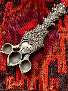 Ethnic Home Decor, Indian Home Decor, Brass Diyas, Mandir Decoration, Lotus Sculpture, Diya Lamp, Image Of Fish, Silver Pooja Items, Silver Ornaments