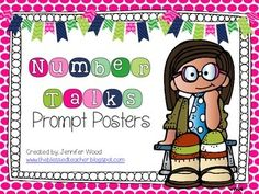 Number Talks are my favorite part of the day! They are a great way to work on number sense and the 8 Mathematical Practices! This set of posters w. Number Talks Kindergarten, Teaching Numbers, Kindergarten Math Activities, Fun Math, Teaching Math, Maths, 8 Mathematical Practices, Math Practices, Math Discourse