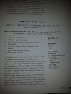 Chocolate Strawberry Shortcakes Strawberry Shortcake Pictures, How To Remove, Peach, Healthy Recipes, Chocolate, Ideas, Peaches, Healthy Food Recipes, Chocolates