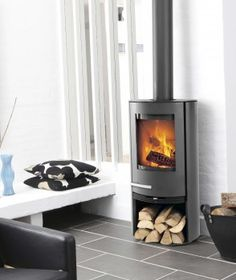 No matter what kind of home you have, our stunning wood burning stoves are sure to compliment your existing interior design. Our cylindrical stoves range from contemporary black steel to traditio Stove Installation, Snug Room, Home Fireplace, Fireplaces, Cottage Plan, Log Burner, Home Renovation, Home Appliances, Homes