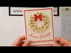 Stampin Up Wondrous Wreath and the Baby Wipe Technique - YouTube