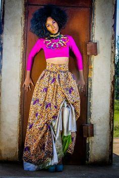 Chic Modern African Dress on Pinterest   Ankara