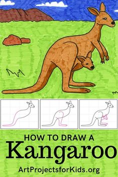 How to Draw a Kangaroo · Art Projects for Kids