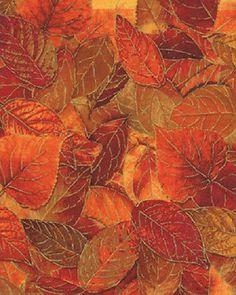 Fabric - KANVAS - Siena by Benartex - Fall Leaves Rust