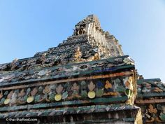 Spitze des Wat Arun Prangs Bangkok, Monument Valley, Nature, River, Temple, Naturaleza, Outdoors, Natural, Mother Nature