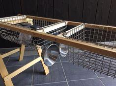 カウンターテーブル wire basket double キャンプ*アウトドア