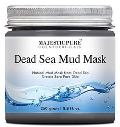 Majestic Pure Dead Sea Mud Mask Oz - Spa's Premium Quality Facial Cleanser for All Skin Types - Natural Formula, Absorbs Excess Oil and Removes Dead Skin Cells to Reveal Fresh and Soft Skin Majestic Pure Mask For Oily Skin, Dead Sea Mud, Baby Skin Care, Healthy Skin Care, Facial Cleansing, L'oréal Paris, How To Treat Acne, Natural Cosmetics, Skin So Soft