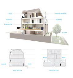 Alison Brooks Architects _ Bath Western Riverside _ Units Sections