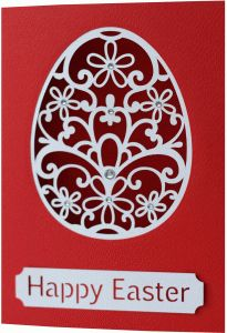 Silhouette Design Store - View Design #76027: 5x7 easter egg flourish card