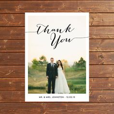CHIC  Digital 5x7 Photo Wedding Thank You by ALLYJDESIGNS on Etsy, $15.00